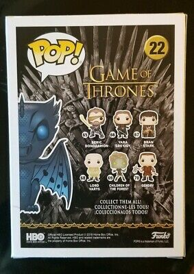 Funko Pop! Game Of Thrones Gitd Icy Viserion #22 Boxlunch Exclusive 2