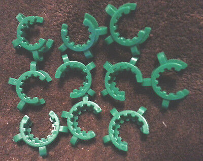 10 x Keck clamps clips: 24/40 joint size LAB GLASS FREE SHIPPING clip clamp 3