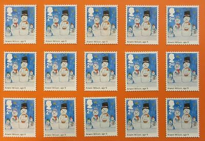 100 Genuine 2nd Class Stamps Unfranked Off Paper WITH ORIGINAL GUM Self-Adhesive 5