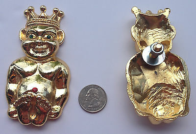 JLP-4 Royal Order of Jesters Lapel Pin New 3-D with Stones Large