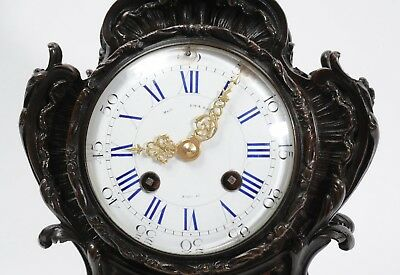Japy Freres Antique French Bronze Rococo Table Clock Music Fully Working C1890 10