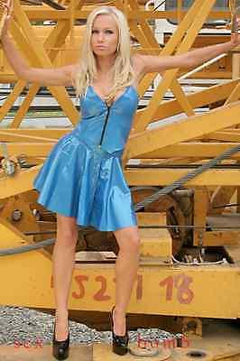 SEXY scarpe NERE decolte LUCIDE plateau TACCO 13,5 dal 36 al 46 fashion GLAMOUR 2