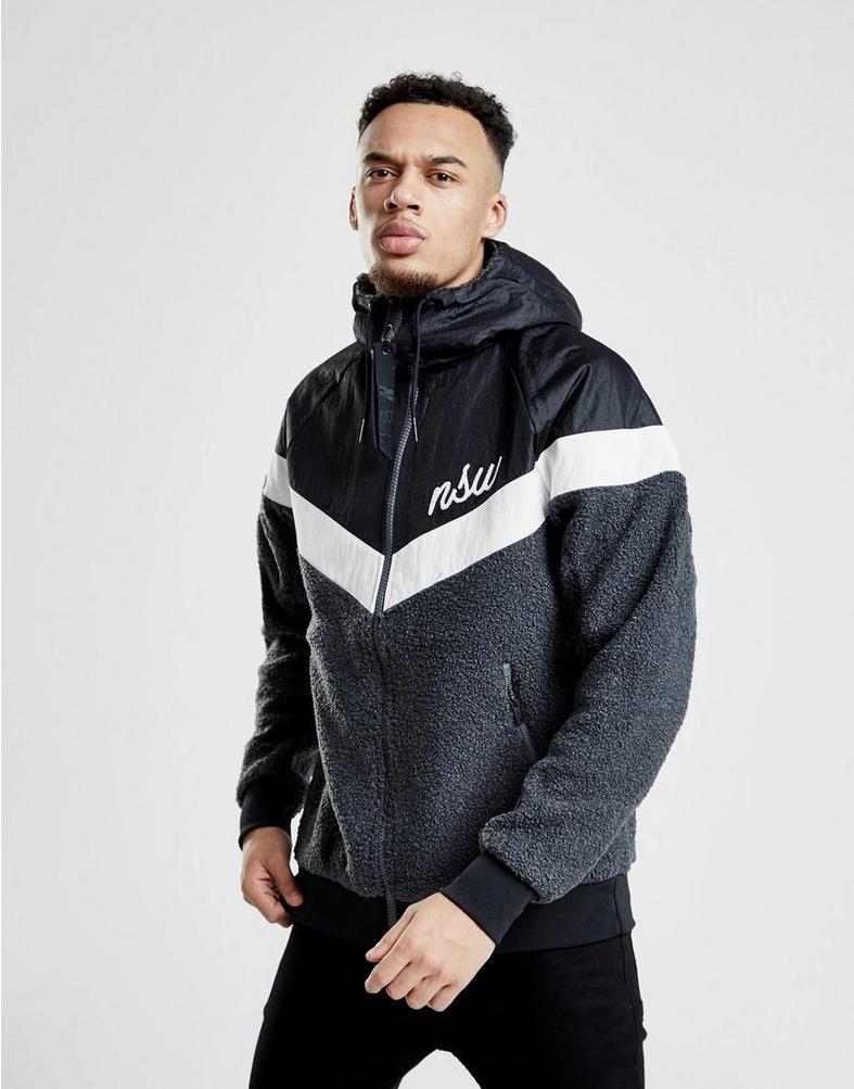 Nike Sportswear NSW Sherpa Windrunner Jacket New Men/'s Summit White 930316-121