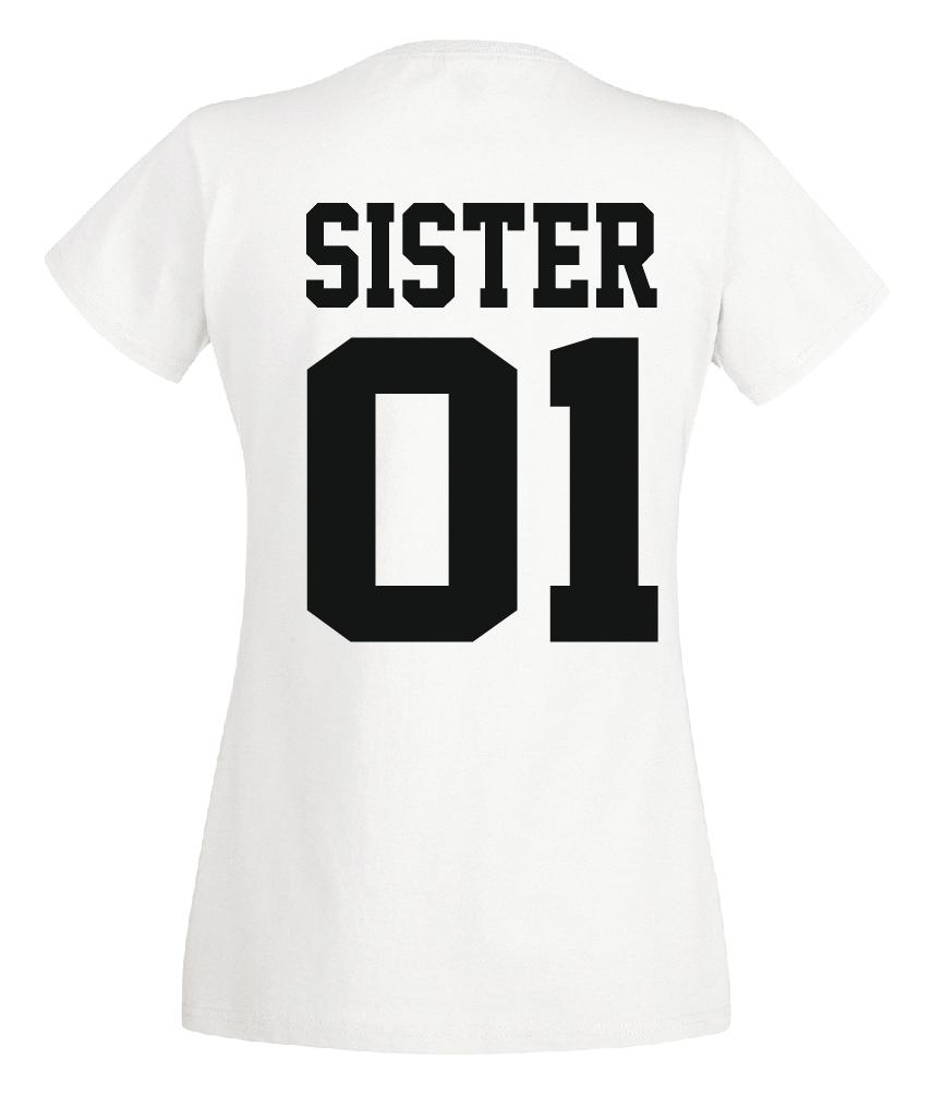 Brother & Sister - T Shirt Set - Geschwister Beste Freunde Bruder - DOPPELPACK - 4