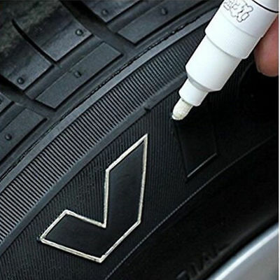 5PC White Paint Pen Marker Waterproof Permanent Car Tire Lettering Rubber Letter 3