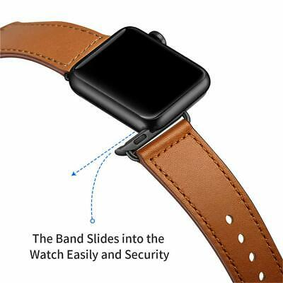 40/44mm Genuine Leather iWatch Strap for Apple Watch Band Series 4 3 2 1 38/42mm 5