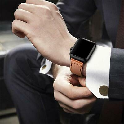 40/44mm Genuine Leather iWatch Strap for Apple Watch Band Series 4 3 2 1 38/42mm 7