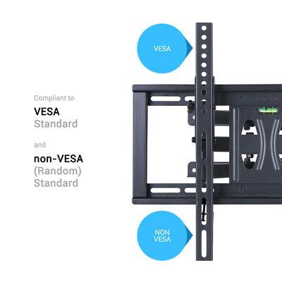 TV Wall Mount Full Motion Swivel Bracket 32 40 42 47 55 Inch LED LCD Flat Screen 7