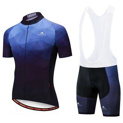 Miloto Herren Fahrradbekleidung Radtrikot /& Gepolstert Rad Shorts Trägerhose Set