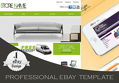 PROFESSIONAL HTML EBAY Store And Listing Template MobileTablet - Create ebay store template