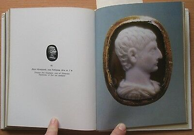 Russian Book Antique Cameo Art Old Miniature Portrait Stone Vintage Rare VTG 6