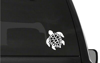 Honu Hawaiian Green Sea Turtle w// Yin and Yang Car Vinyl Decal Sticker 05063