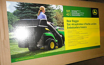 john deere bm21888 bg20776 twin bagger kit 100 series lawn tractors rh picclick com John Deere Lawn Mower Manuals John Deere Lawn Mower Manuals