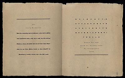Werbung Reklame 1937 Buchdruckerei ENZ & RUDOLPH Frankfurt a. M. Speicherstr. 11 2