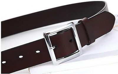 Women's Jean Belt, Classic Square Buckle Handcrafted Genuine Leather Belt 7