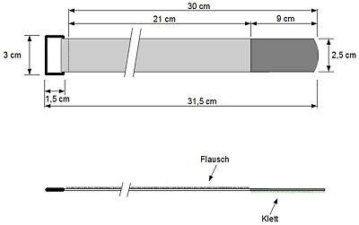 50 Kabelklettbänder 300 x 20 mm in 5 Farben Kabelklett Klettband Kabelbinder Öse