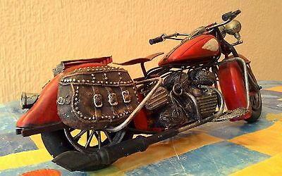 Moto De Metal Vintage Para Decoración 28 Cm 6