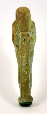 Egypt Late Period 27th-30th Dynasty faience ushabti of Kesjmerennebes 2