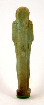 Egypt Late period 28/30th dynasty faience ushabti of Ptah-Hotep 2