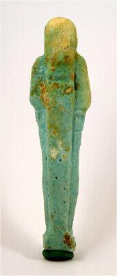Egypt Late Period 26th-30th Dynasty blue glazed  shabti for Pasinebu 2