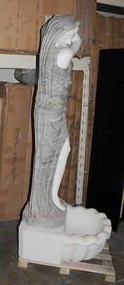 Set 4 XL Italian Marble Urn Maiden Fountains Statues 2