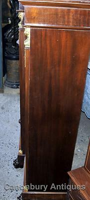 Antique French Empire Bookcase Cabinet Flame Mahogany 1880 3