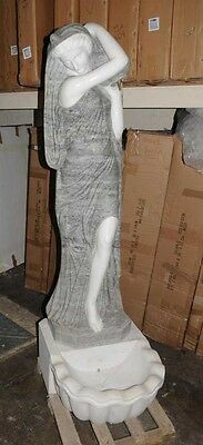 Set 4 XL Italian Marble Urn Maiden Fountains Statues 5