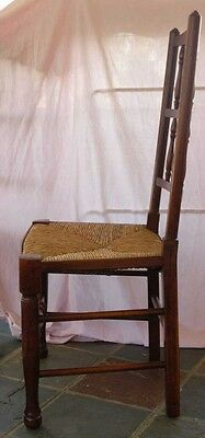 set 8 French Rustic Spindleback Chairs in Oak 5