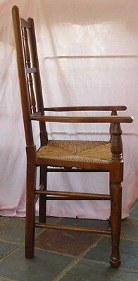 set 8 French Rustic Spindleback Chairs in Oak 12