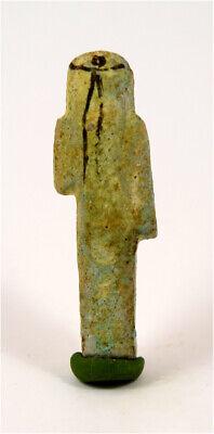 Egypt Third Intermediate Period faience overseer shabti of Anchef-en-Amun 2