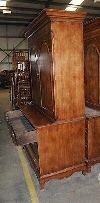 Oak Linen Cabinet Drinks Chest Farmhouse Furniture 4