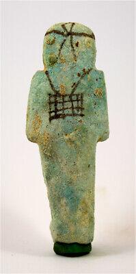 Egypt TIP 21/22th Dynasty blue faience shabti of Pa-Di-Khonsu. 2