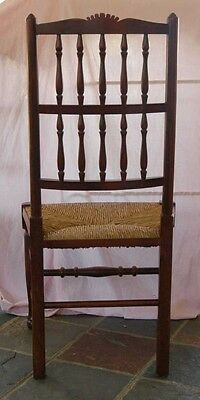 set 8 French Rustic Spindleback Chairs in Oak 6