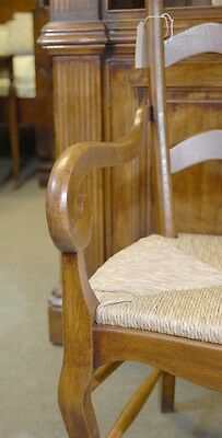 Set 6 English Carved Ladderback Rustic Chairs Ladder Chair 2