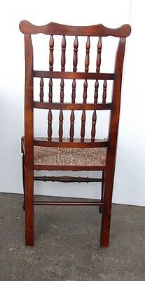 Set 8 English Pad Foot Spindle Back Chairs Spindleback 8