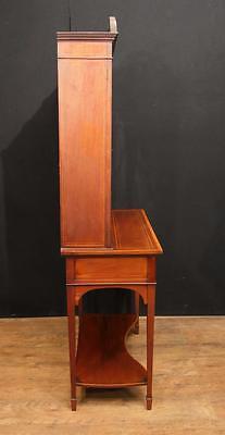 Antique Edwardian Sheraton China Cabinet Bookcase 5