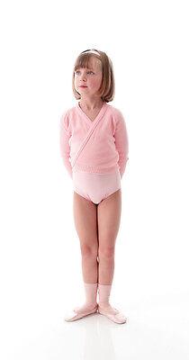 Ragazze Bambini Rosa Pallido Balletto Danza Crossover Cardigan Avvolgente 2