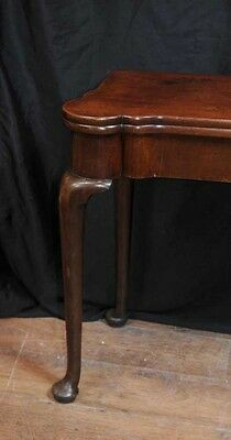 Antique Queen Anne Card Table Mahogany Tables Games