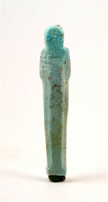 Egypt Late period -30th dynasty to ptolemaic period green faience shabti 2