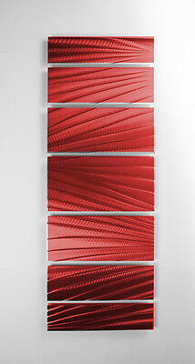 Modern Abstract Metal Wall Art Red Painting Sculpture Home Decor Indoor Outdoor 2