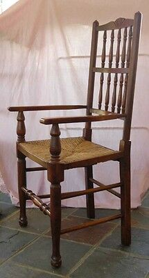 set 8 French Rustic Spindleback Chairs in Oak 10