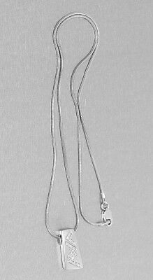 Collier Kette Weißgold 585 mit 13 Brillanten Schlangenkette mit Anhänger 14 Kt.