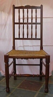 set 8 French Rustic Spindleback Chairs in Oak 2