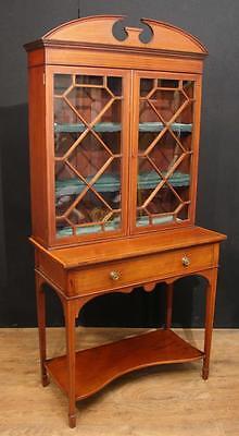Antique Edwardian Sheraton China Cabinet Bookcase 7
