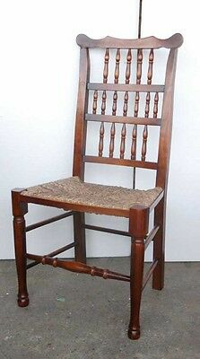 Set 8 English Pad Foot Spindle Back Chairs Spindleback 10