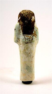 Egypt New Kingdom 19/20th dynasty very rare white faience shabti for Amun-Mes 2