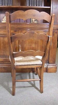 Set 6 English Carved Ladderback Rustic Chairs Ladder Chair 6