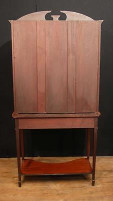 Antique Edwardian Sheraton China Cabinet Bookcase 8
