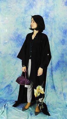 High-Quality   Japanese kimono   KURO-TOMESODE 160cm(62.9inch) 10