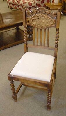 8 English William Mary Rustic Dining Chairs Barley Twis 11